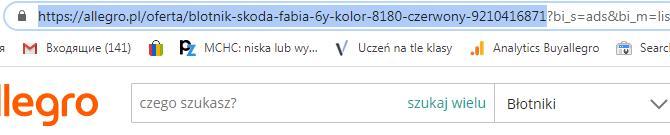 Копируете адрес лота allegro.pl